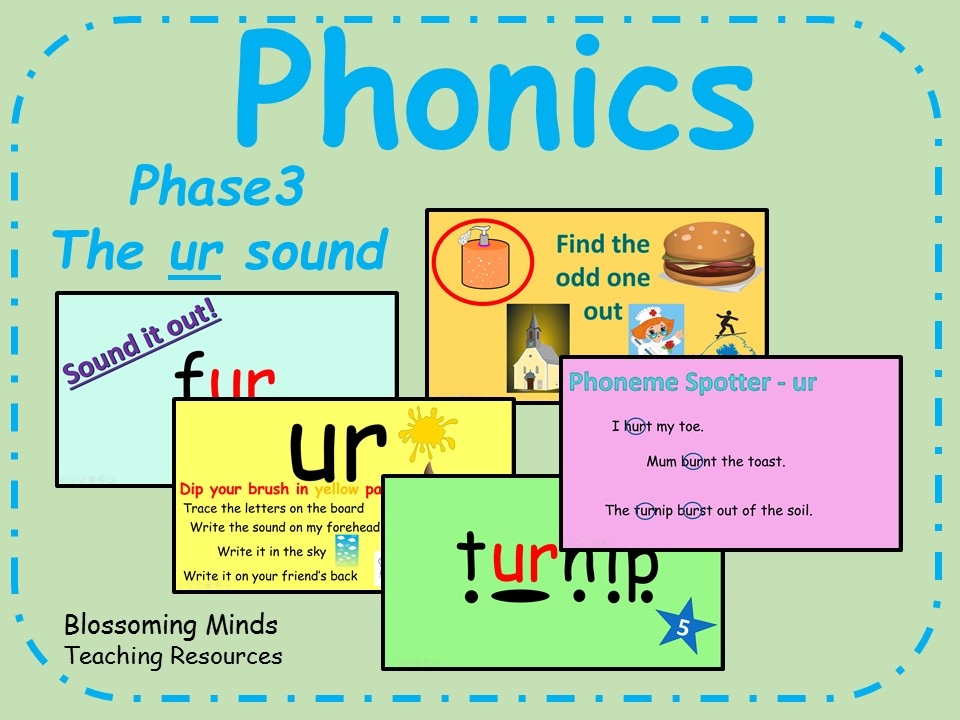 Phonics Phase 3 - The'ur' sound