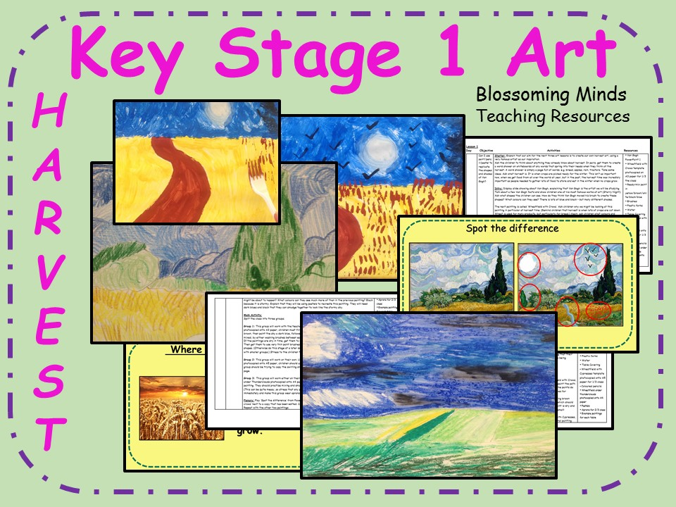 Key Stage 1 Harvest Art Plan (3 lesson unit) - Van Gogh/Wheat/Bread
