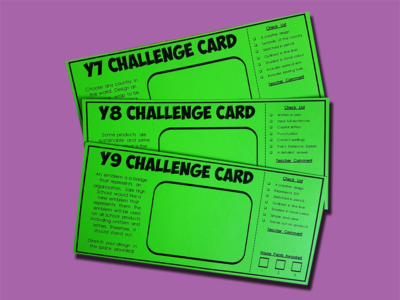 Technology Challenge Cards