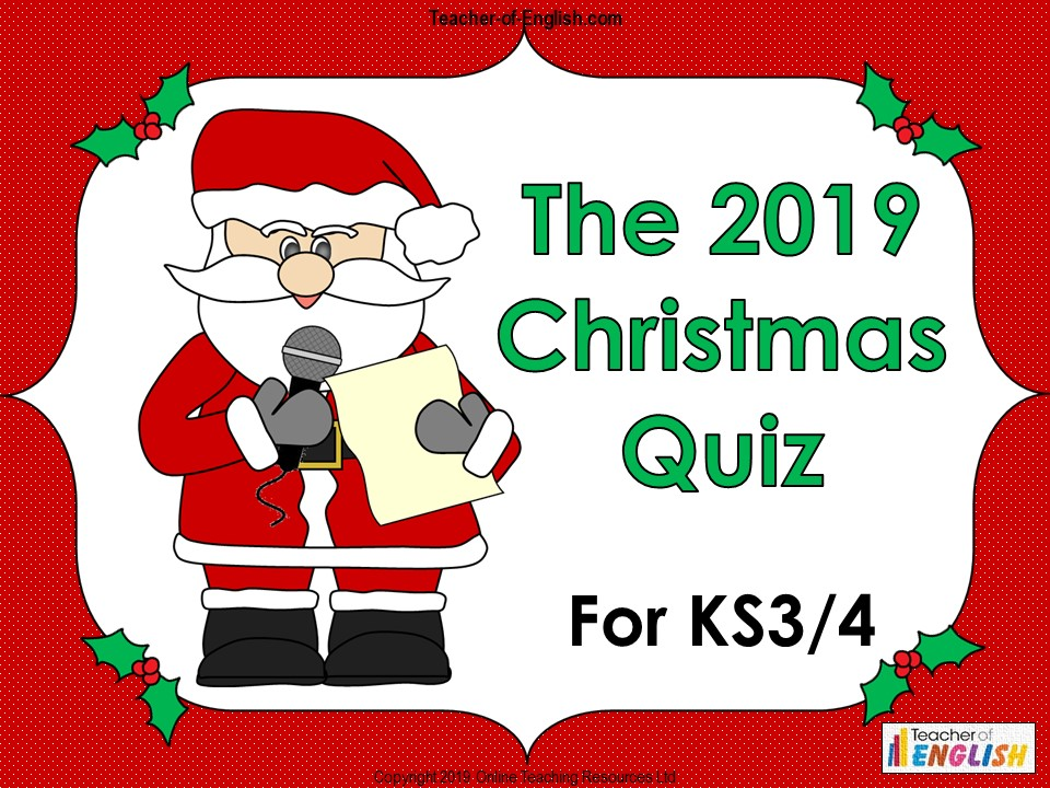 The BIG 2019 Christmas Quiz for KS3 and KS4