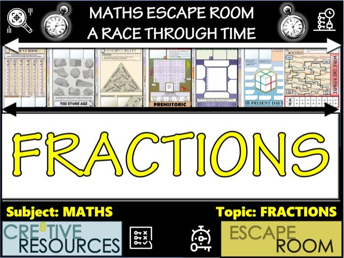 Fractions Maths Games  Escape Room