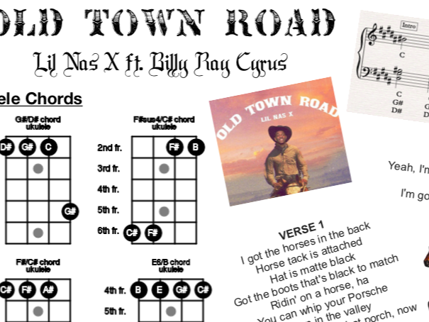 Old Town Road Performance Sheet (Jam Pack)