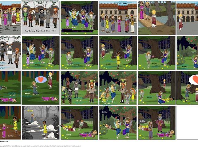 A Midsummer Night's Dream Comic Strip
