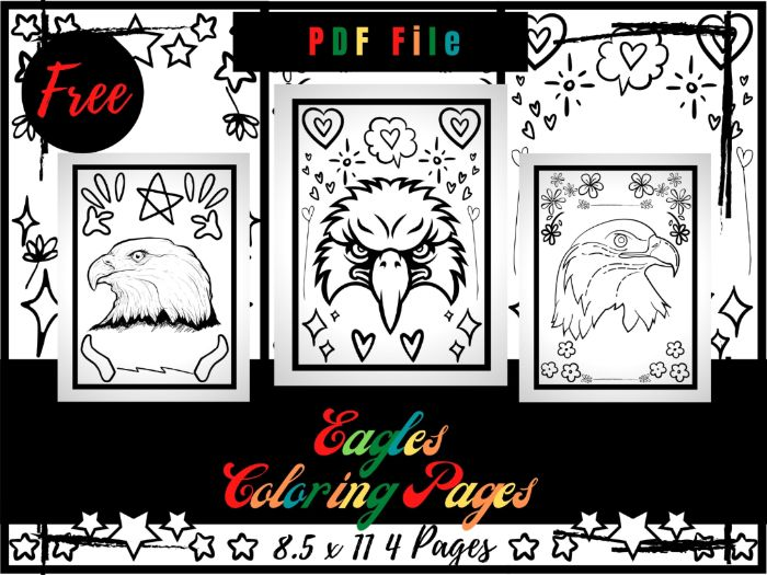 FREE Eagles Animals Colouring Pages For kids, Free Eagle Colouring Sheets PDF