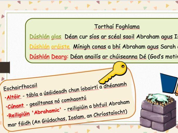 Abraham agus Isaac - Ceacht Faoin nGiúdachas *As Gaeilge* / Irish Resource