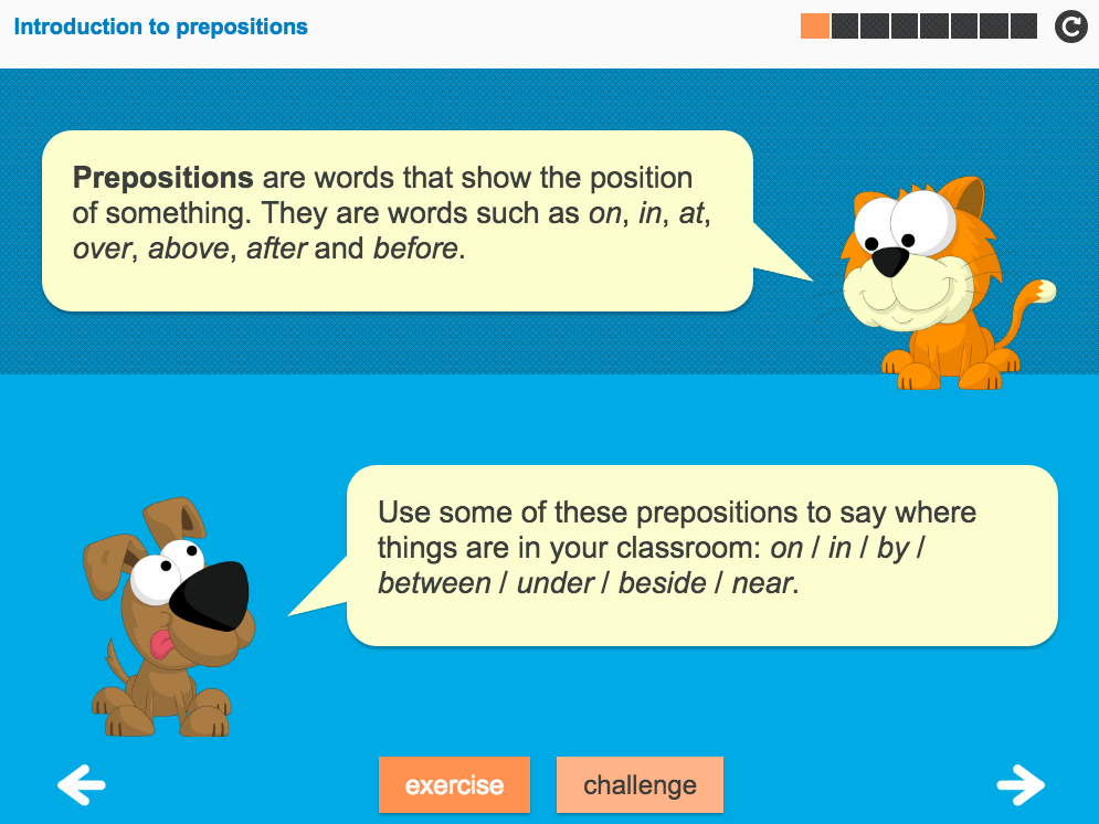 Prepositions and Prepositional Phrases Interactive Teaching Presentation - Year 3 Spag
