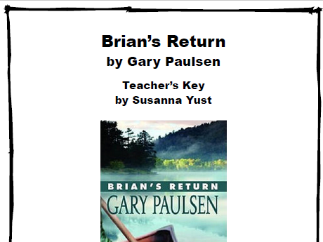 Brian's Return - Reading Comprehension Guide - Literature Circle Unit