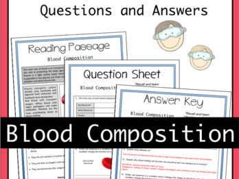 Blood Composition and Red Blood Cells Activity