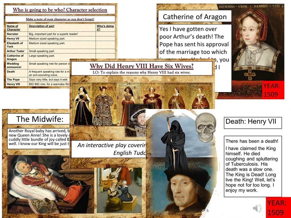 The Six Wives of Henry VIII Role Play Lesson