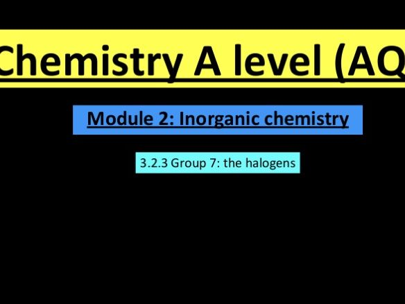 A Level chemistry group 7 lesson