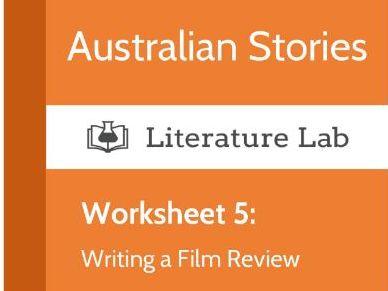 Australian Stories – Writing a Film Review Worksheet