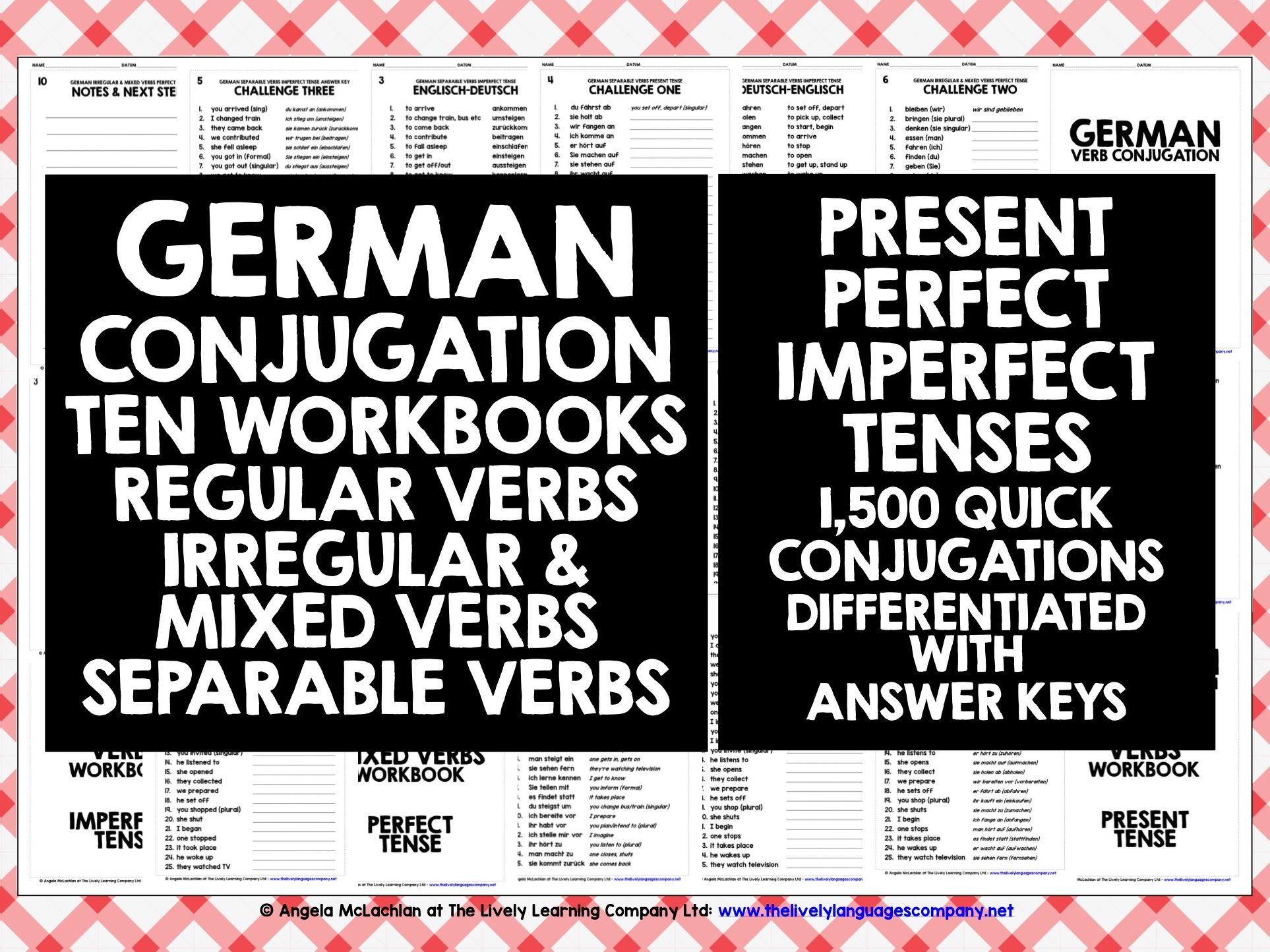 GERMAN VERBS: GERMAN VERBS CONJUGATION #1