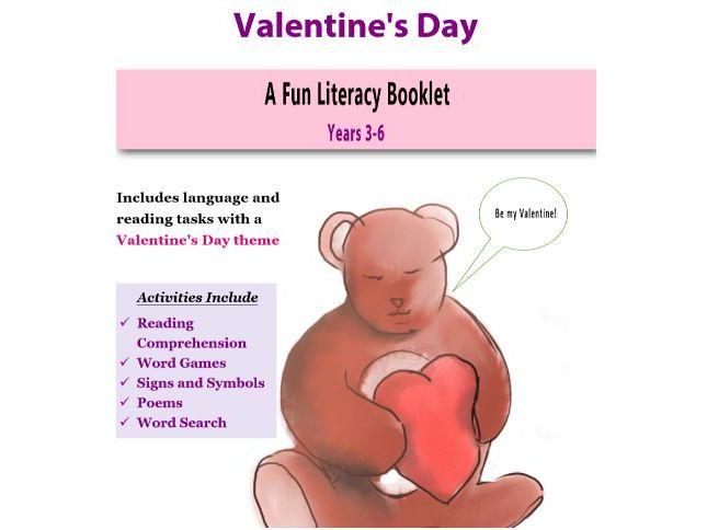 Valentine's Day Literacy Booklet