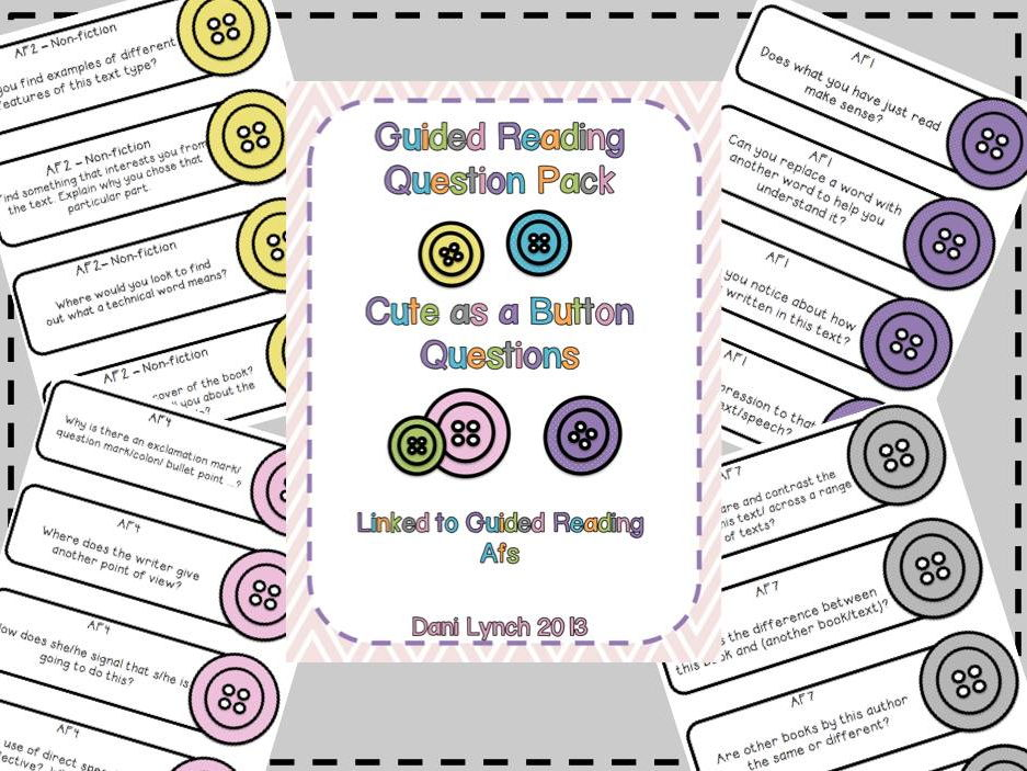 Guided Reading Questions Cute as a Button