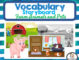 Category Sorting Farm Animals & Pets - Stick on Backgrounds