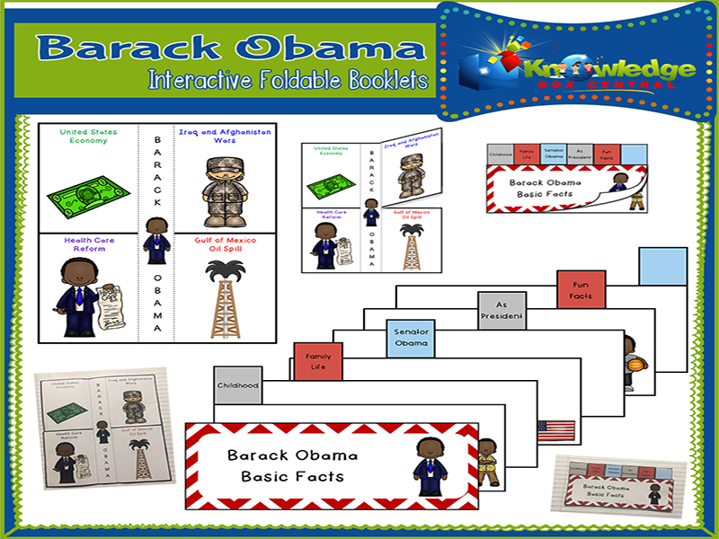 Barack Obama Interactive Foldable Booklets
