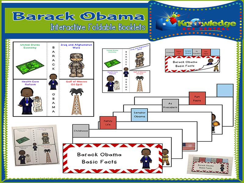 Barack Obama Interactive Foldable Booklets