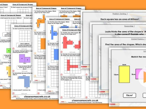 Year 5 Area of Compound Shapes Autumn Block 5 Step 5 Lesson Pack