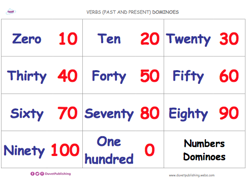 Match Words & Numbers (Multiples of 10) - Dominoes