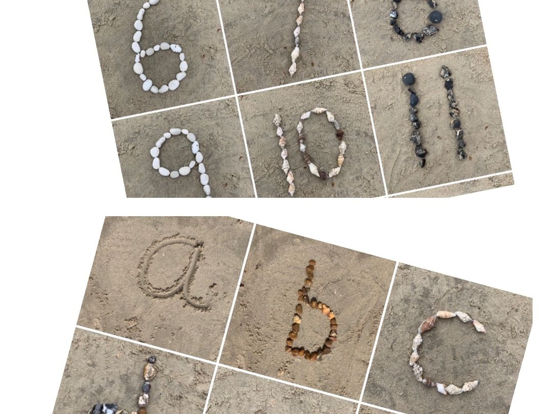 Beach letters and numbers