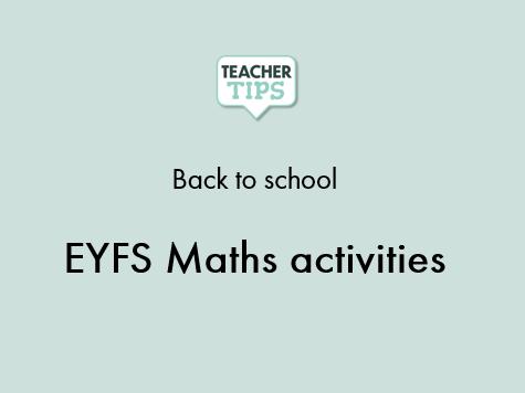 EYFS Maths activities