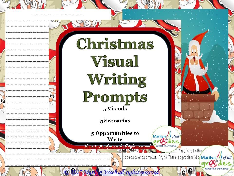 Christmas Writing Prompts.Christmas Visual Writing Prompts