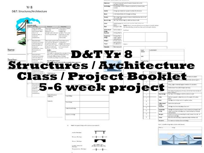 DT - Yr 8 Structures - Architecture - Class Work Booklet - PDF Version