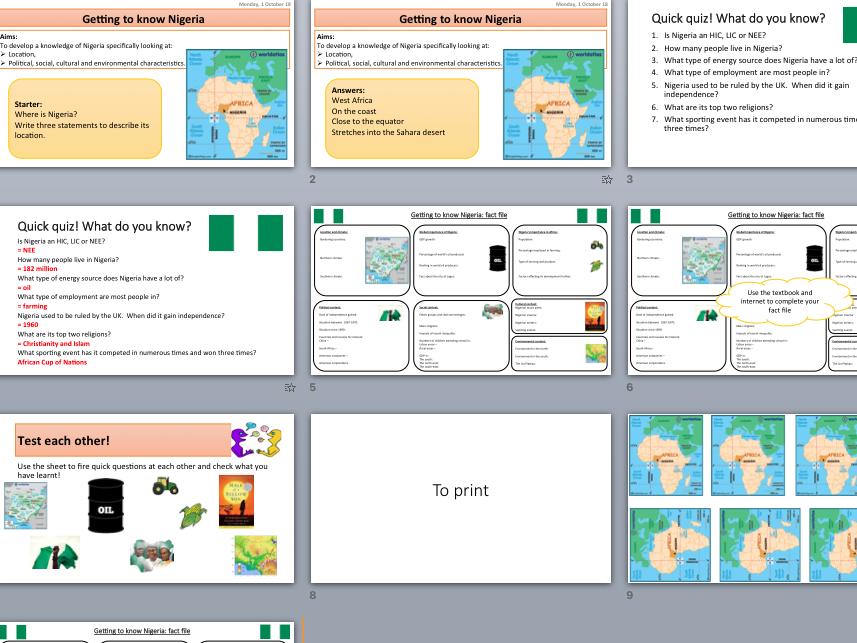 Nigeria case study bundle - AQA's Changing Economic World