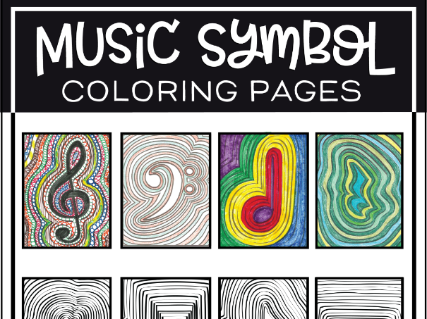 Music Symbol Coloring Pages Teaching Resources