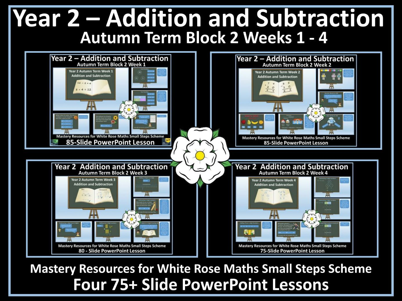 Addition and Subtraction: 4 PowerPoint Lessons for White Rose Small Steps - Year 2 - Block 2 - Autumn Term