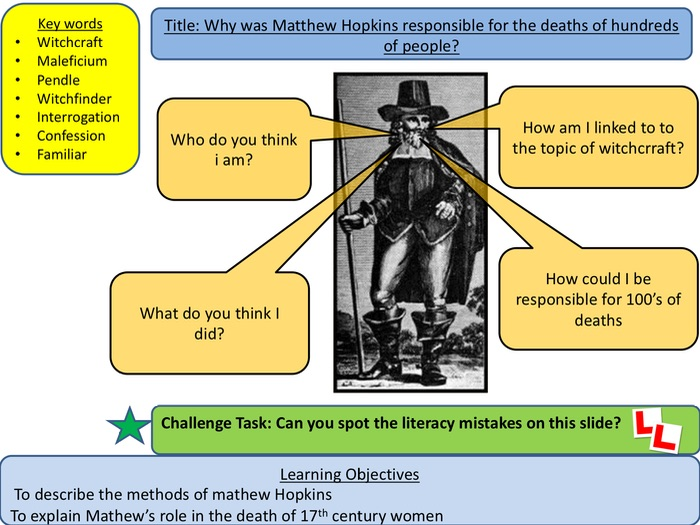 Witches: Why was Mathews Hopkins responsible for the death of hundreds of people? (Lesson 3)
