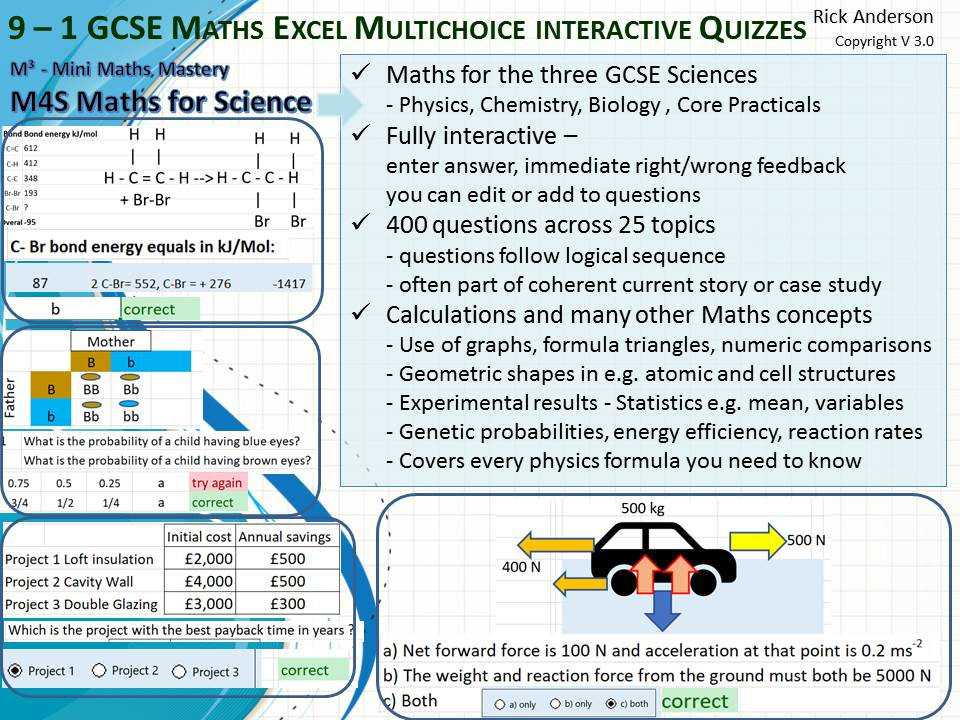 Maths for GCSE 9-1 Science 400 questions