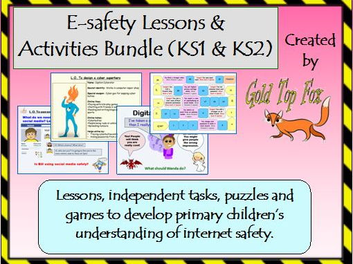 E-safety lessons and activities bundle (Internet Safety for KS1 & KS2)