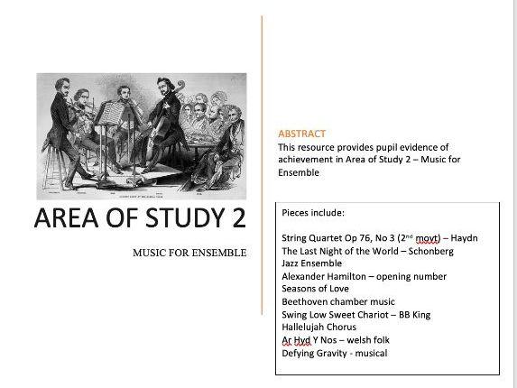 EDUQAS GCSE Music SAMS Area of Study 2 Music For Ensemble