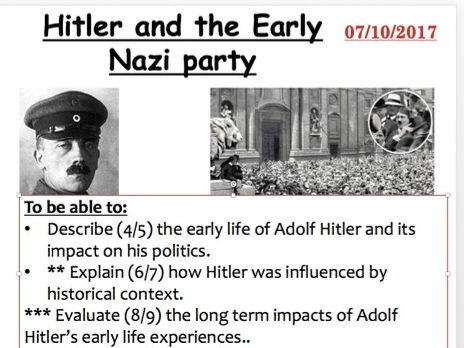 the early life and times of adolf hitler Proceeding ullrich was alan bullock's hitler: a study in tyranny, joachim fest's hitler: a biography and ian kershaw's two-volume work, hitler, 1889-1936: hubris and hitler 1936-1945: nemesis like his predecessors, ullrich believes that hitler was guided by a consistent world view — the removal of jews from germany and europe and the.