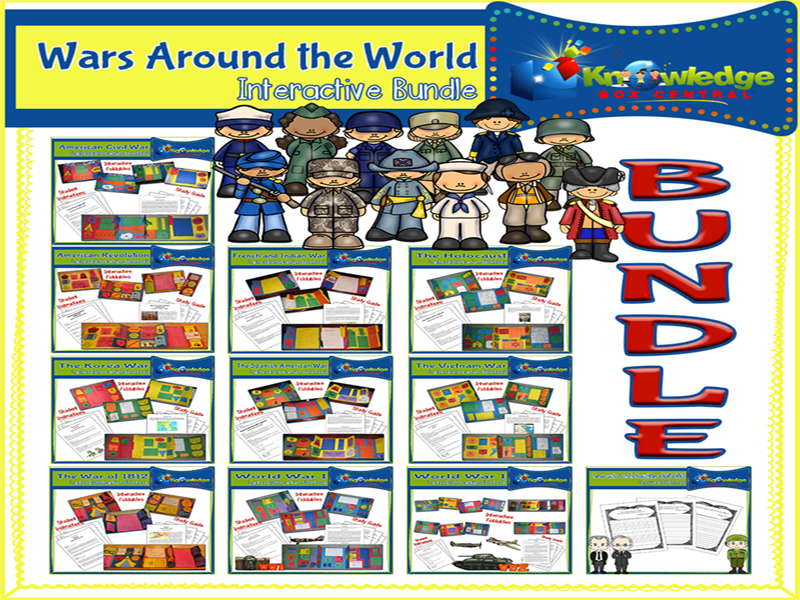 Wars Around the World Lapbook BUNDLE