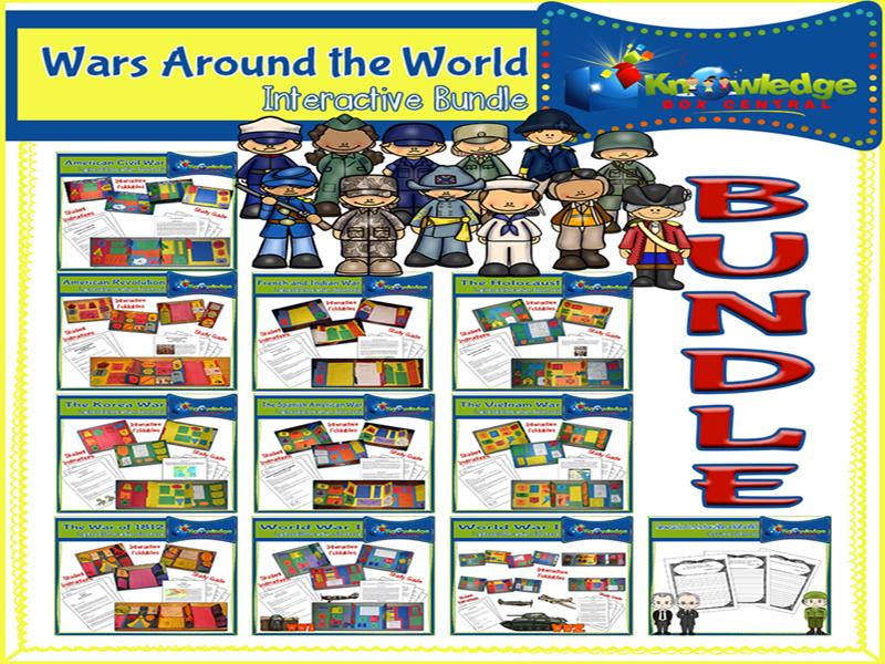 Wars Around the World Lapbook BUNDLE