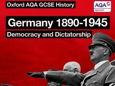 GCSE History AQA: Germany 1890-1945 - Exam Question hint sheet - how to approach each question