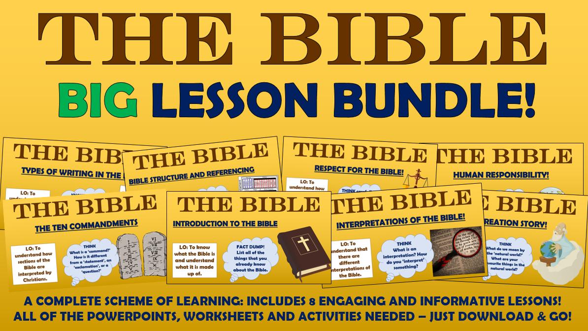 The Bible - Big Lesson Bundle!