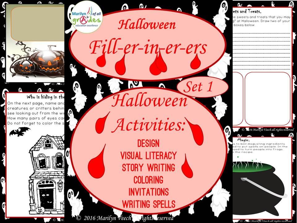 Halloween Fill-er-in-er-ers - Set 1