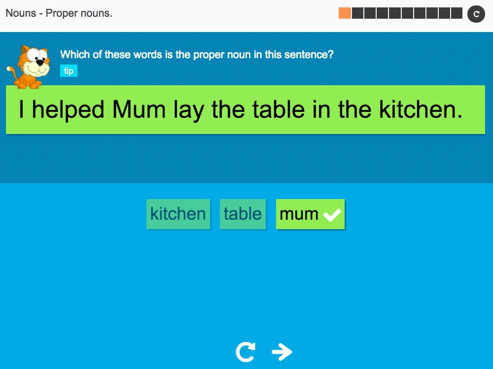 Nouns: Proper nouns - Interactive Activity - KS3 Spag