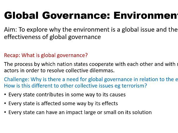 Global Governance Environmental Introduction
