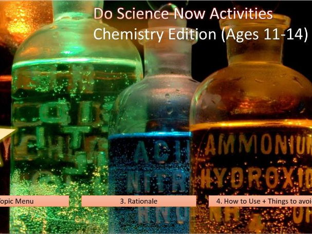 Chemistry Lesson Starters - DO SCIENCE NOW (11-14)