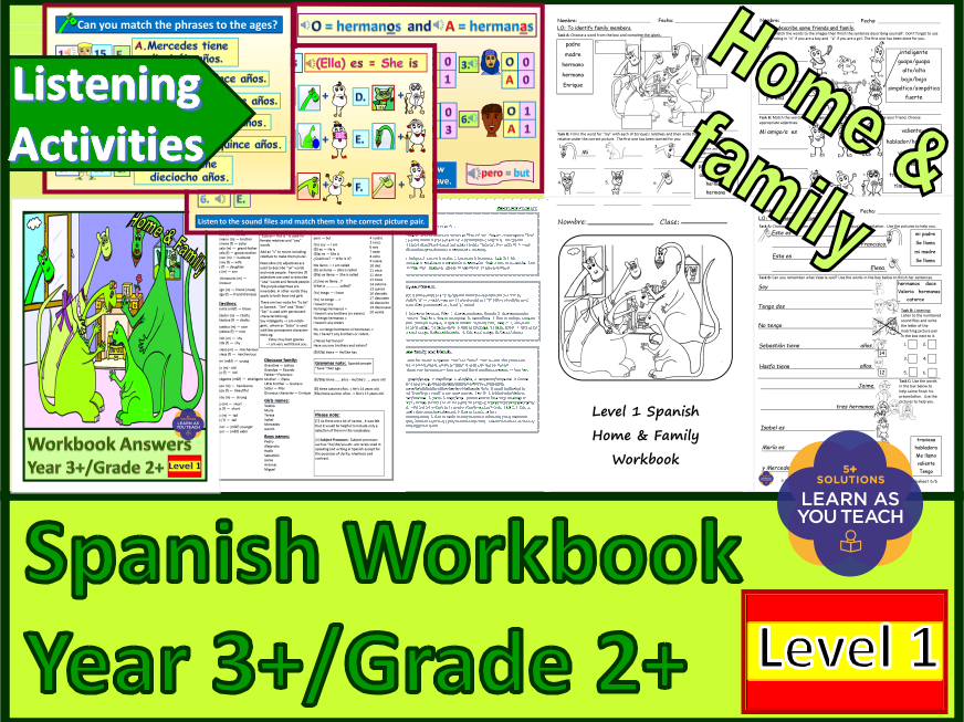 PRIMARY SPANISH WORKBOOK - HOME & FAMILY