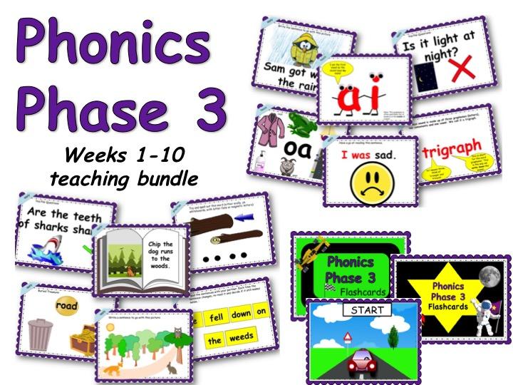 Phonics Phase 3 Complete Teaching Set (10 weeks)