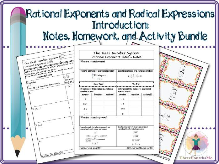 Rational Exponents and Radical Expressions: Bundle