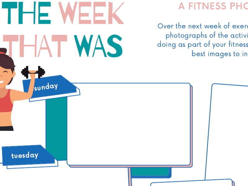 PE @ Home | Fitness Photo Diary Worksheet
