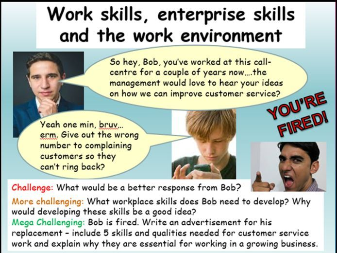 Careers - Work skills
