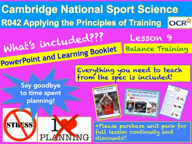 Cambridge National Sports Science R042: Balance Training.