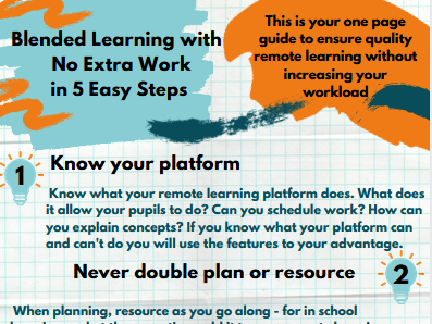 Blended Learning With No Extra Work